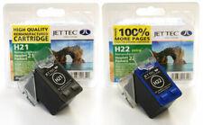 HP21-HP22 Black & colore ricostruiti Stampante Cartucce Di Inchiostro H21 H22