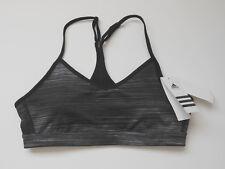 NWT Adidas Women's Climalite Strappy Print Padded Bra Size XS L XL Black/Grey