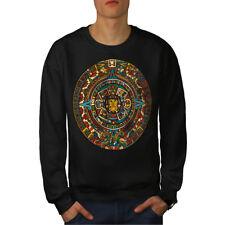 Wellcoda Aztec Traditional Mens Sweatshirt, China Casual Pullover Jumper