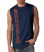 NEW Broncos VERT SHIRT Sleeveless T-shirt LARGE XL 2XL Denver Blue Wave