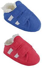 Childrens / Boys Trainer Style Fleece Lined Slipper ~ UK 9-3