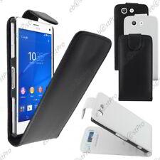 Housse Etui Coque a Rabat Flip Simili Cuir Sony Xperia Z3 Compact