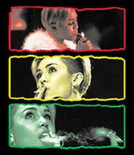 Funny T-Shirt Sexy Miley Cyrus Smoking Weed Lighting Up Marijuana Kush Dope Tee