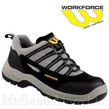 WORKFORCE Tapa Puntera De Acero Negro Gamuza/Gris Zapatilla Zapato De Seguridad WF80