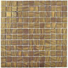 Mosaik Fliese ECO Recycling GLAS Rechteck satin gold 360-05_b