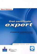 Longman primera certificado Fce experto Estudiante Libro de recursos W clave & Audio CD @NEW