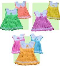 BEAUTIFUL BABY GIRL HANDMADE CROCHETED DRESS OR SWING TOP AGE 0-2 YEARS