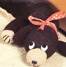 Mr DOGGIE dog pattern / 8ply or D.K.  - COPY toy knitting pattern