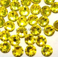 Citrine (249) cristal Swarovski 2058/2088 flatbacks no-hotfix strass ss34