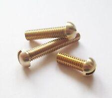 3 BA Brass Round Head Machine Screws / Bolts (UK Manufacturer)