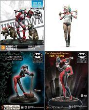 Resin Figure Harley Quinn Unpainted Model Kit Female clown SEXY adult 35/54/75mm