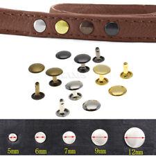 100pcs/set Metal Double Cap Rivets Stud Rapid Rivets Leather Craft Repair