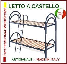 Arredamento Letto A Castello Con Reti A Doghe Singole 80x190 Vari Colori Scomponibile