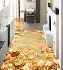 3D Plage 78 Fond d'écran étage Peint en Autocollant Murale Plafond Chambre Art