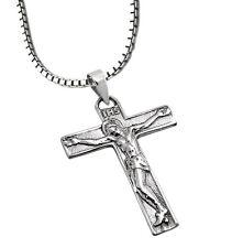 925 ECHT SILBER *** Großer Anhänger Kreuz mit Jesus 30mm  Kette optional