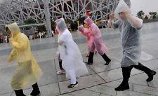 Pack 5 ~ 50 Notfall Regenjacke regenmantel langarm mit Kapuze Poncho Regenponcho