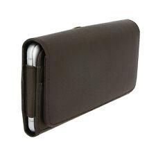Housse ceinture avec porte-cartes smartphone jusqu'à 5.5 pouces - Marron