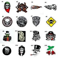Skull Biker Rock Punk Retro Hardcore Tattoo Style Clothing Jeans Iron on Patch