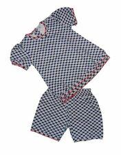 Claesen's Girls Cotton Blue And White Pajamas