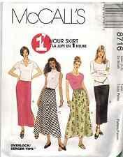 8716 UNCUT McCalls SEWING Pattern Misses 1 Hr A Line Straight Skirt EASY OOP FF