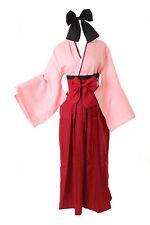 MN-95 Saber Okita Souji Fate Grand Order Rosa Rot Kendo Kimono 5-TLG Set Cosplay