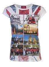 Womens T-Shirts London Tops Ladies Union Jack Landmarks Souvenir UK Holidays