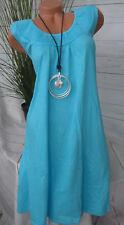 Sheego Kleid Jerseykleid Shirtkleid long Shirt Gr 40 - 54 Türkis Ton (721)