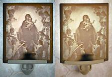 Virgin holding Baby Jesus (Christ) w/Angels Porcelain Lithophane Night Light