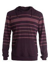 Quiksilver Snit Stripe Hoody LS Fleece Pullover Hoodie Sz Medium