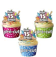 Formato de la ciencia Cristales 12 Taza Comestible Cake Toppers Decoraciones De Cumpleaños Cualquier Edad