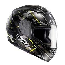 HJC CS-15 Songtan Black CS15 Full Face Motorcycle/Motorbike Helmet-Black/fluo ZE