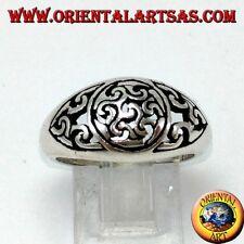 Anello  In Argento 925 con Antahkarana (simbolo di meditazione e guarigione)