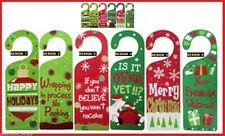 Wooden CHRISTMAS Door HANGER ~ Choice of SIX Messages ~ Santa Decoration Gift