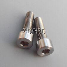 2pcs M7 Titanium Ti Screw Bolt Allen Hex Socket Cap Head Aerospace Grade No Rust