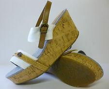 Wrangler White Womens Wedge Sandals Wave Sunset Sizes 4,5,6,7 New £19.99