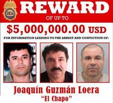 EL CHAPO GUZMAN DEA WANTED POSTER GLOSSY POSTER PICTURE PHOTO PRINT mugshot 3963