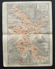 Antica=Topografica=PERUGIA - UMBRIA.SCALA 1:1100.1905c
