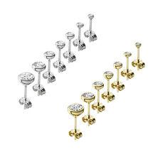 333er Gelbgold oder 925er Silber Kelch Ohrstecker Solitär Zirkonia Ohrringe NEU