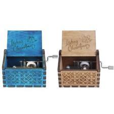 Retro Wooden Merry Christmas Music Box Storage Box Ornament Gift Decoration WT7n
