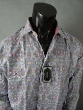 Men's Pastel Colors By H20 Button Dress Shirt With Designer Print Classic Fit