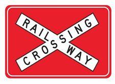 RAILWAY CROSSING R6-25 Road Sign