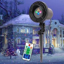 RGB Christmas Laser Light Projector Moving Static Outdoor Garden Xmas Decor