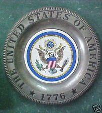 Vintage 1776 metal Aluminum United States Plate Unique