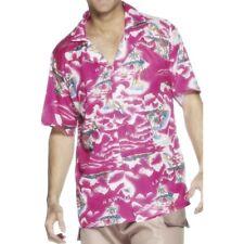UOMO COSTUME HAWAIANO CAMICIA hawiin hawaiiin Albero Di Palma Rosa Da Smiffys