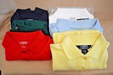 School POLO Shirt Girl 4 - 20 UNIFORM LONG Sleeve Green Red YELLOW Blue White