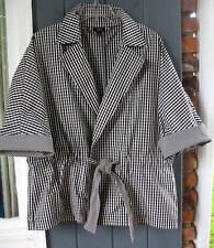 Talbots Black White Kimono Jacket Blazer 3X 3XP 2XP NWT
