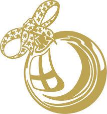 WD0803 oro Aplicación Etiqueta Engomada De Decoración Bola de navidad versch.