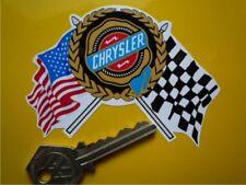 "CHRYSLER USA Flags & Scroll Style Car Sticker 4"" Viper Dodge Cruiser Corp 3000"