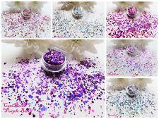 Esagono Solido Colori OLOGRAFICA Pentola Spangle Glitter Nail Art Tip Decorazione