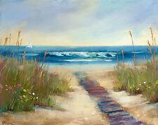 Serenity I Keilrahmen-Bild Leinwand Meer Strand Dünen Sommer Karen Margulis
